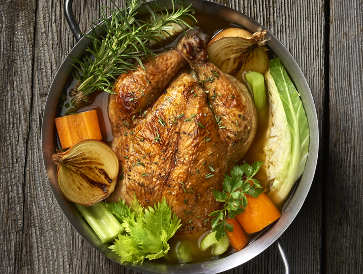 Roasted Chicken In Pot Image