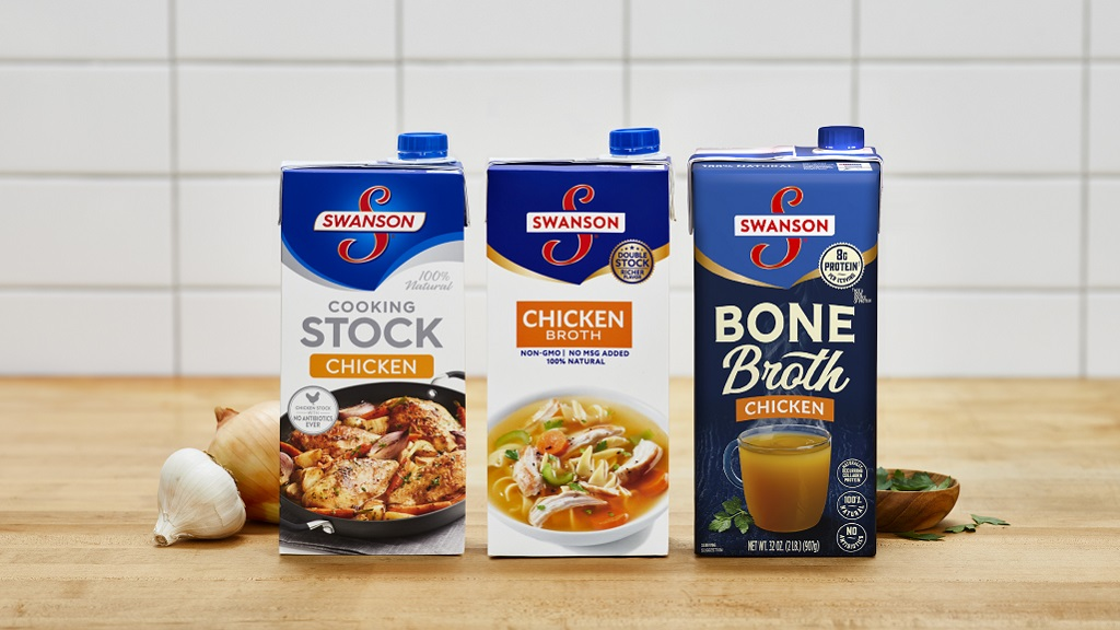 Small image of Swanson Stock, Broth and Bone Broth packages