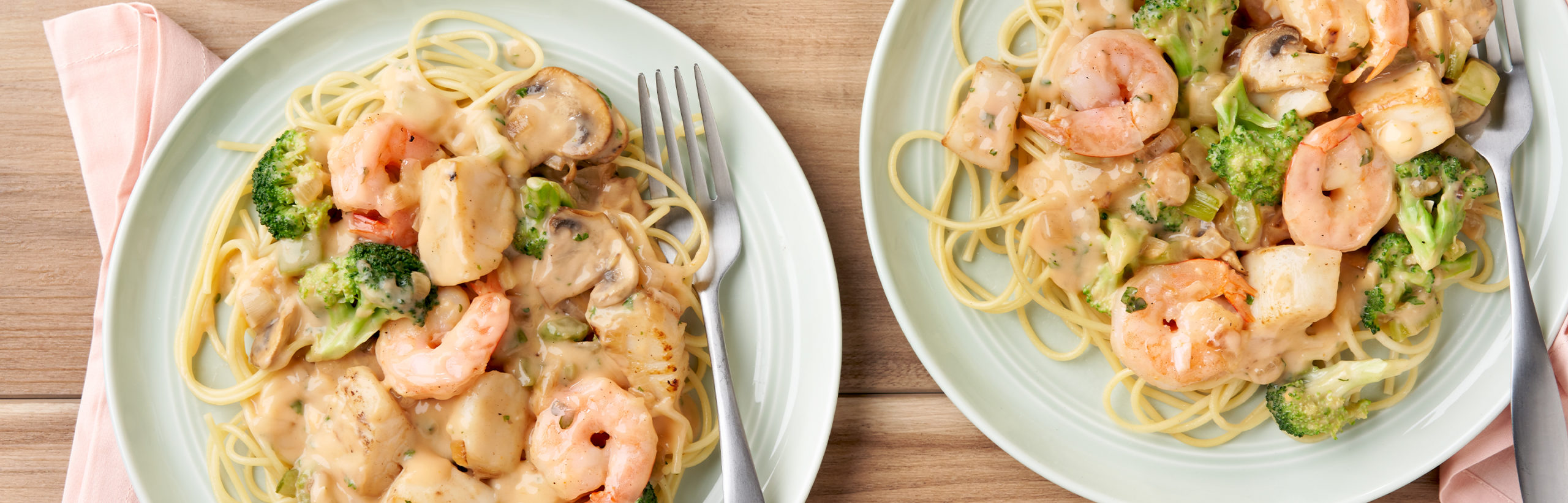 creamy seafood medley with pasta - campbell soup company
